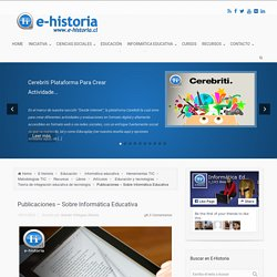 Publicaciones - Sobre Informática Educativa - E-Historia