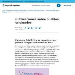 Publicaciones sobre pueblos originarios