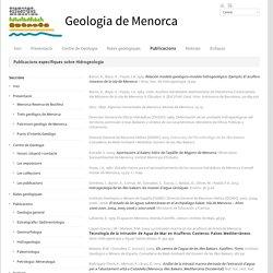 Geologia Menorca – Consell Insular de Menorca » Publicacions específiques sobre Hidrogeologia
