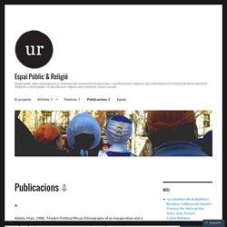 Publicacions ⇩ – Espai Públic & Religió