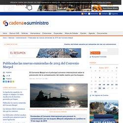 Publicadas las nuevas enmiendas de 2015 del Convenio Marpol