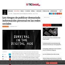 Los riesgos de publicar demasiada información personal en las redes sociales