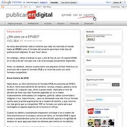 Publicar en Digital: ¿Me paso ya a EPUB3?