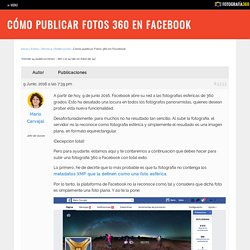 Cómo publicar Fotos 360 en Facebook - Fotografía 360