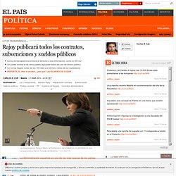 Rajoy publicará todos los contratos, subvenciones y sueldos públicos
