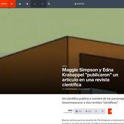 """Maggie Simpson y Edna Krabappel """"publicaron"""" un artículo en una revista científica - FayerWayer"""