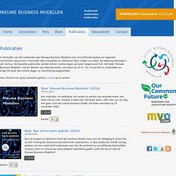 Publicaties - Nieuwe Business Modellen