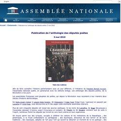 Publication de l'anthologie des députés poètes - 3 mai 2010
