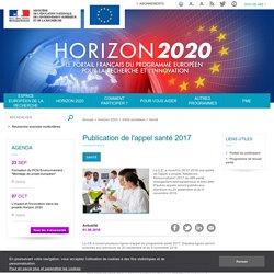 Publication de l'appel santé 2017