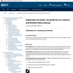 Publication 54 (2019), Tax Guide for U.S. Citizens and Resident Aliens Abroad