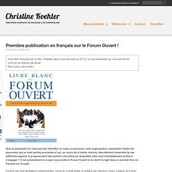 Première publication en français sur le Forum Ouvert !