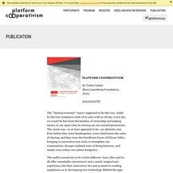 Publication: Platform Cooperativism Conference