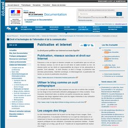 Publication et internet