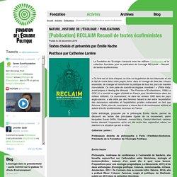[Publication] RECLAIM Recueil de textes écofiministes