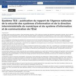 Système TES : publication du rapport de l'ANSSI et de la DINSIC / Le système des titres électroniques sécurisés / Actualités