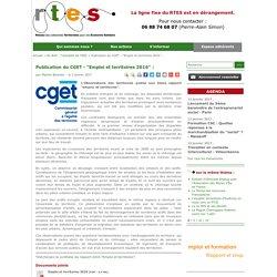 """Publication du CGET - """"Emploi et territoires 2016"""" :"""