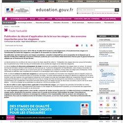 Publication du décret d'application de la loi sur les stages : des avancées importantes pour les stagiaires