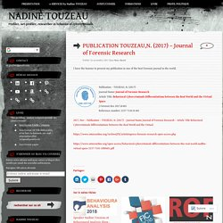 PUBLICATION TOUZEAU,N. (2017) – Journal of Forensic Research