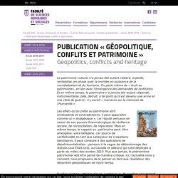 Publication Géopolitique, conflits et patrimoine - Université Jean Monnet