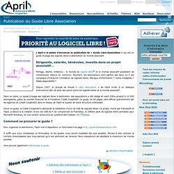 Publication du Guide Libre Association