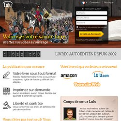Libre publication, impression de livre et édition en ligne