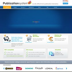 Publication System : Catalogue interactif, brochure en ligne, magazine digital