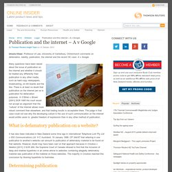Publication and the internet – A v Google
