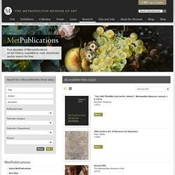 Search publication results