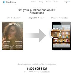 Get your publication in newsstand - Readmore - Create your own magazine