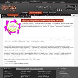 INRA 11/04/13 Table de composition nutritionnelle des aliments