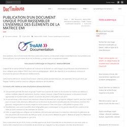 Publication d'un document unique pour rassembler l'ensemble des éléments de la matrice EMI – Doc'Toulouse