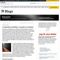 La publication scientifique : du papier au numérique