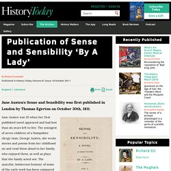 Publication of Sense and Sensibility 'By A Lady'