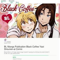 BL Manga Publication Black Coffee Yaoi Shounen-ai Comic by Sparkly Comics