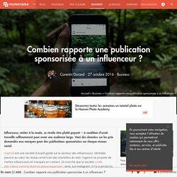 Combien rapporte une publication sponsorisée à un influenceur ? - Business