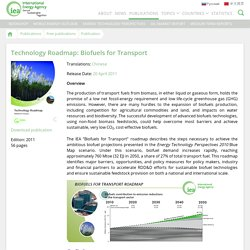 Publication: Technology Roadmap: Biofuels for Transport