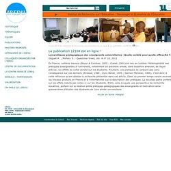 La publication 12104 est en ligne ! | IREDU