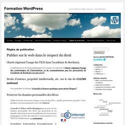 Règles de publication - Formation WordPressFormation WordPress