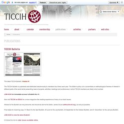 [INT] TICCIH bulletin / The International Committee for the Conservation of the Industrial Heritage
