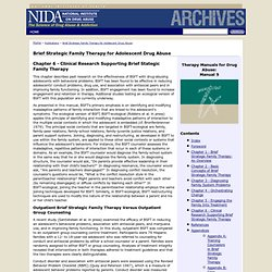 NIDA - Publications - Brief Strategic Family Therapy for Adolescent Drug Abuse