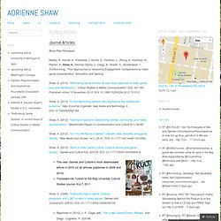 Publications - adrienne shaw
