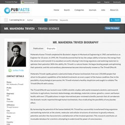 Mahendra Trivedi Biography