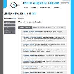 Publications autour des LéA — LéA