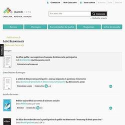 Publications de Loïc Blondiaux sur Cairn.info