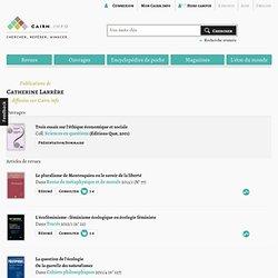 Publications de Catherine Larrère sur Cairn.info