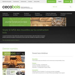 CECOBOIS / Publications