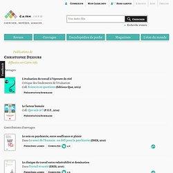 Publications de Christophe Dejours sur Cairn