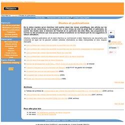Études et publications de Hervé Chuzeville, webmestre