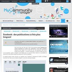 Des publications 12 fois plus longues sur Facebook