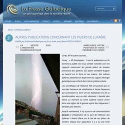 AUTRES PUBLICATIONS CONCERNANT LES PILIERS DE LUMIÈRE
